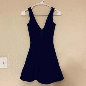 Tobi Black Low V Cut Dress Sz XS-S